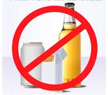 Proibido bebidas e cigarros para menores