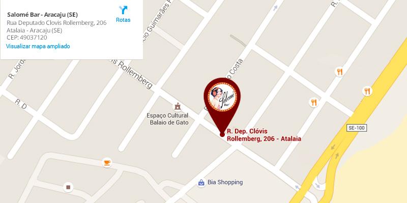 mapa salome bar aracaju